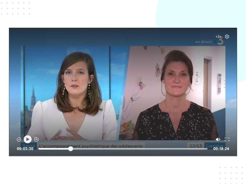 INTERVIEW FRANCE 3 ROSELYNE CONVERS - HOPITAL DE JOUR ADOLESCENTS - DECROCHAGE SCOLAIRE PHOBIE TROUBLES ANXIEUX
